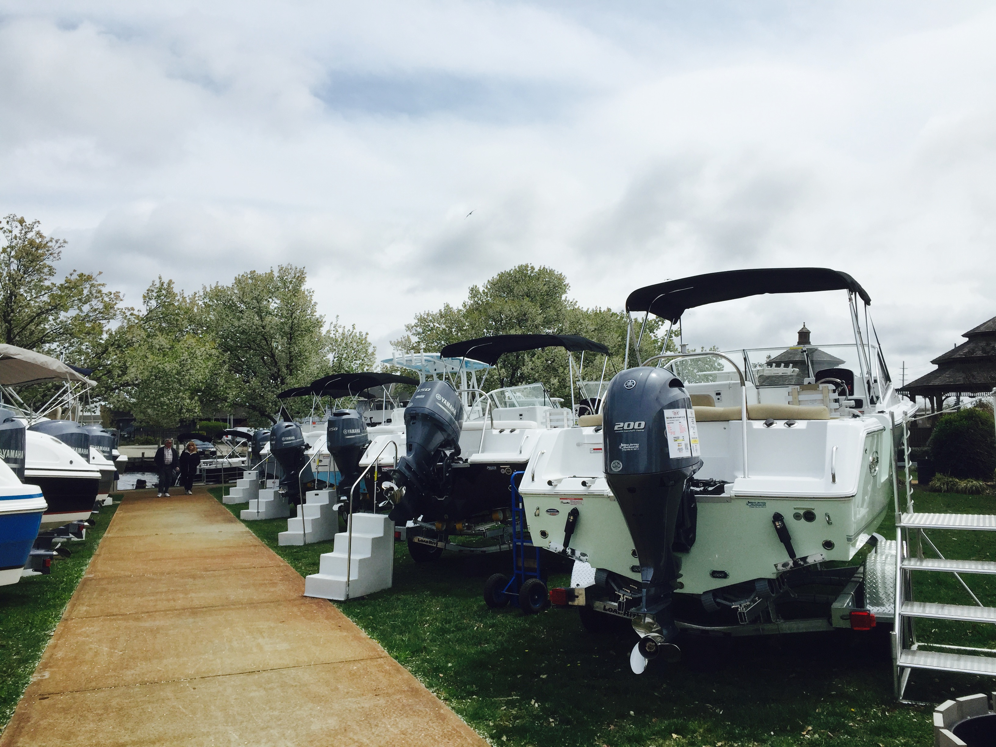 Row of Sea Hunts at our 2015 huddy park spring boat show