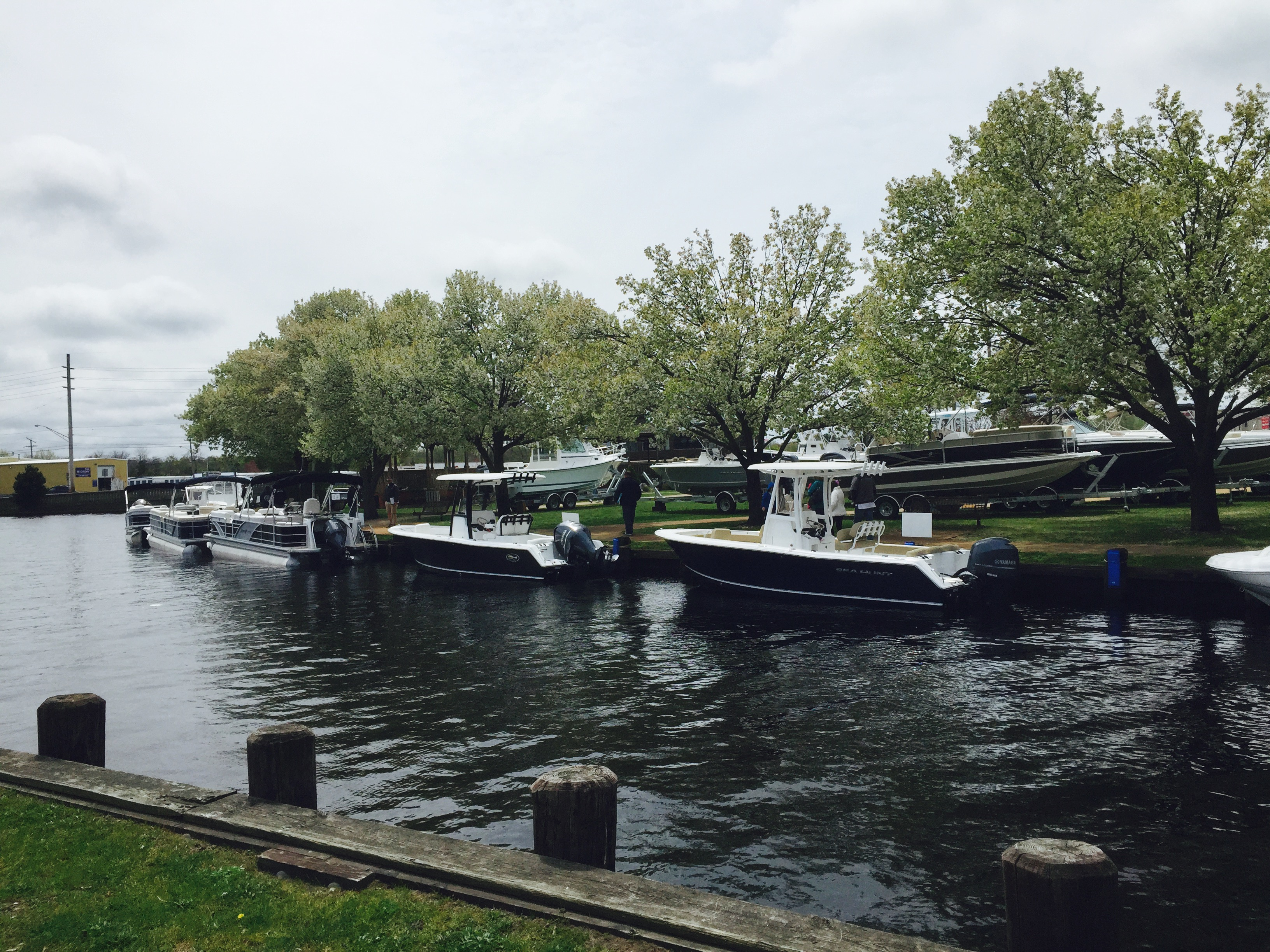 Test ride boats at the huddy park in water spring 2015 show