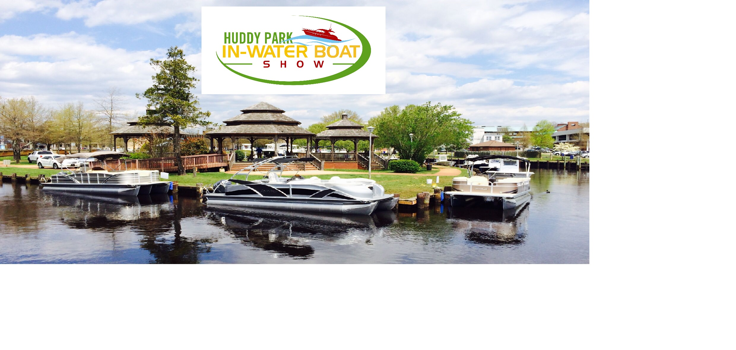 Updated Huddy boat show logo and header