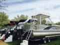 Another view of the pontoons at the 2015 huddy park in water spring show