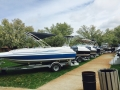 Our row of Hurricanes at the 2015 spring boat show