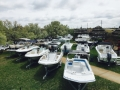 View from Hight up at the 5th annual spring huddy park in water boat show